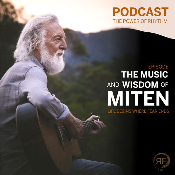 Cover of the episode with Miten in the power of rhythm podcast